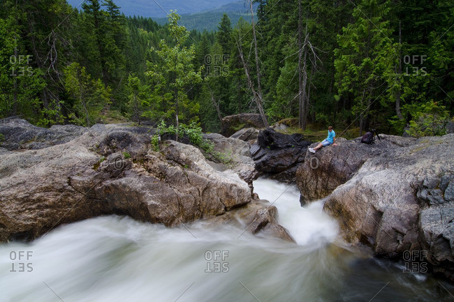 Kelowna, British Columbia, Canada - July 13, 2012: Albas Creek Provincial Park, Shuswap