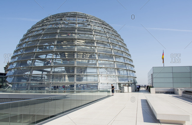 Berlin, Germany - June 8, 2014:  Reichstag building Dome