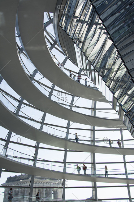 Berlin, Germany - June 7, 2014:  Reichstag building Dome