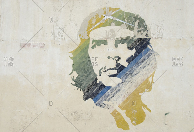 Havana, Cuba - October 11, 2013: Che Guevara mural