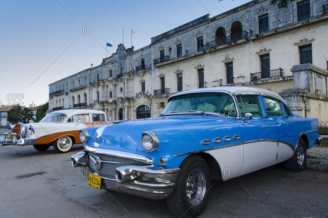 Havana, Cuba - October 13, 2013: Classic american cars