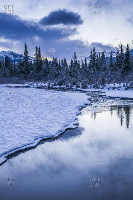Early morning at a creek near Canmore, Alberta, Canada