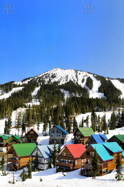 Ski chalets at Mt Washington near Courtenay, BC