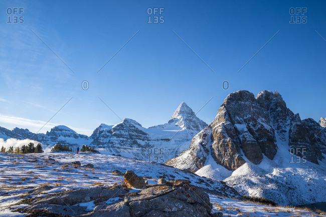 Hiker Mount Assiniboine Provincial Park, British Columbia, Canada