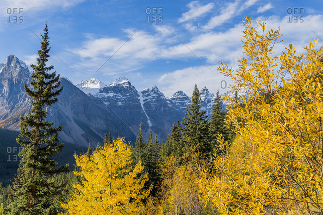 Fall , Valley of the Ten Peaks, Banff National Park, Alberta, Canada,