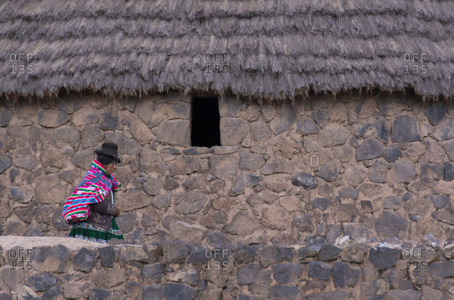 Peru - October 8, 2014: Peruvian village scenes