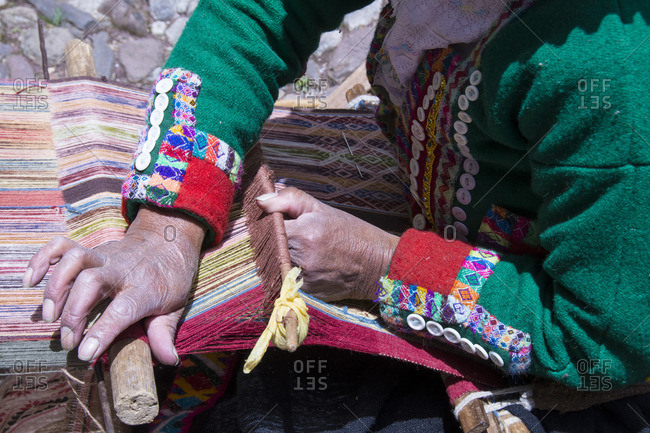 Traditional weaving, Cuzco, Peru