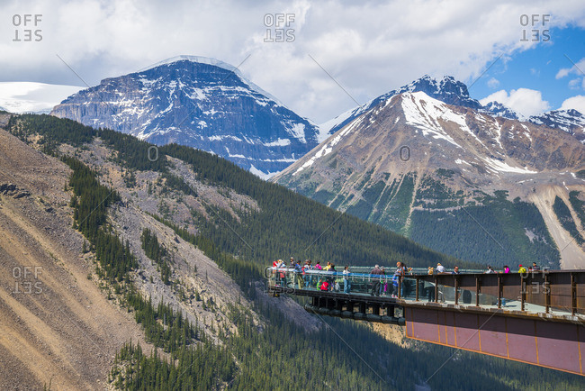 The Glacier Skywalk, Jasper National Park, Alberta, Canada - July 3, 2014: The Glacier Skywalk, Jasper National Park