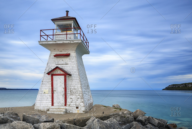 Lion's Head Lighthouse on Georgian Bay, Bruce Peninsula, Ontario, Canada
