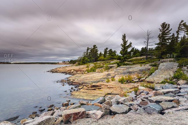 Georgian Bay shoreline, Killbear Provincial Park, Ontario, Canada