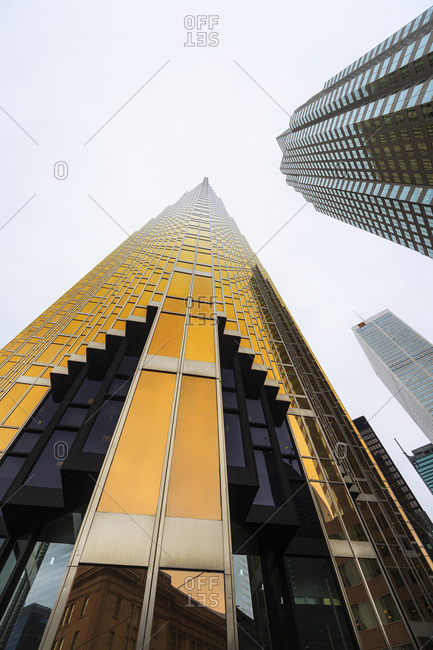 Toronto, Ontario, Canada - September 11, 2014: Office towers in the financial district