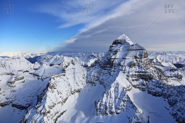Steep peaks of Mount Assisniboine, British Columbia, Canada
