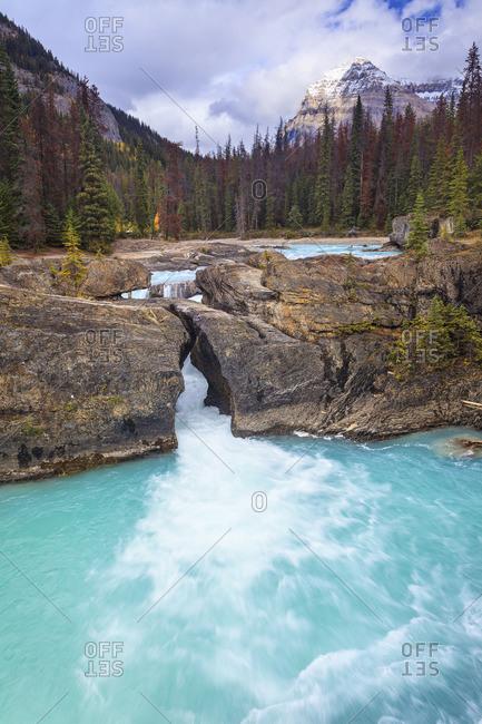 Kicking Horse River at the Natural Bridge, Yoho National Park, British Columbia, Canada