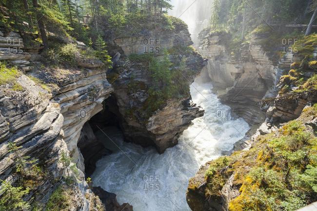 Athabasca Falls, Athabasca River, Jasper National Park, Alberta, Canada