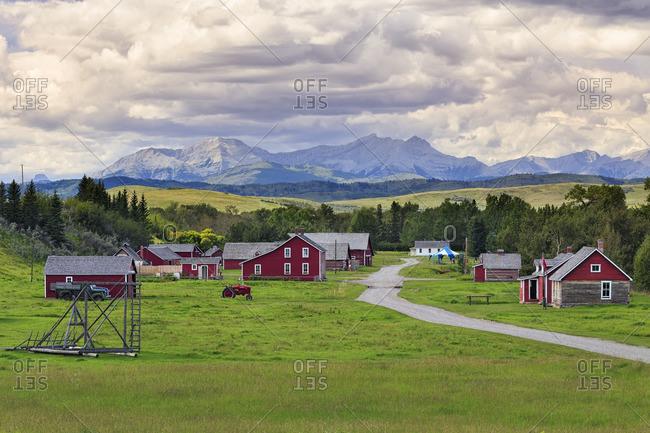 Alberta, Canada - August 17, 2013: Bar U Ranch National Historic Site, Longview