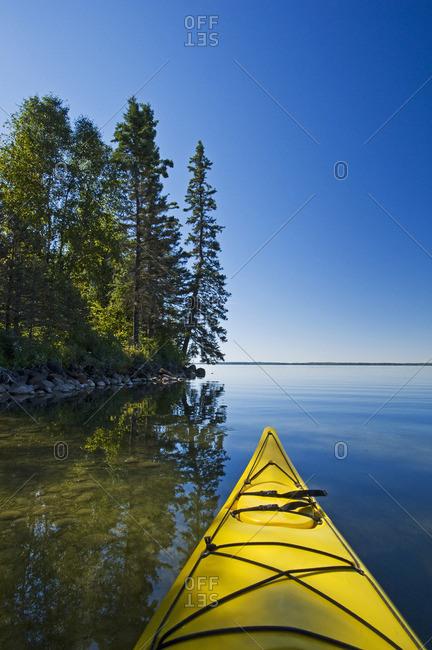 kayaking, Clear Lake , Riding Mountain National Park, Manitoba, Canada