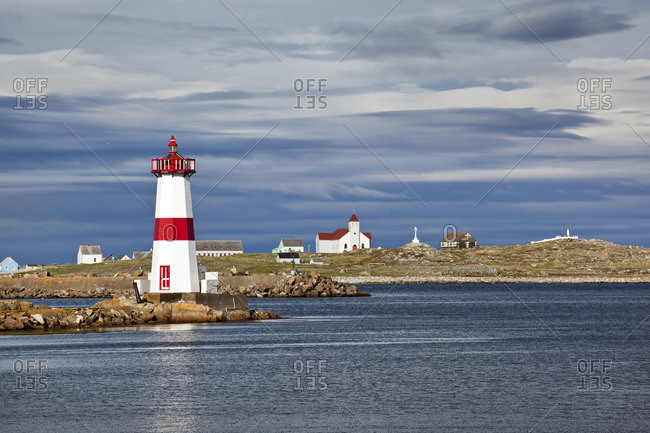 Pointe-aux-Canons Lighthouse Saint-Pierre-et-Miquelon, Newfoundland, Canada