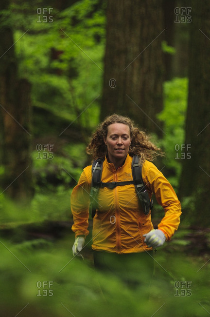 Trail running on Mount Seymour North Vancouver, British Columbia Canada