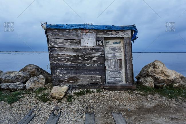 Bocas de Ceniza, Colombia - October 8, 2014: House of a fisherman