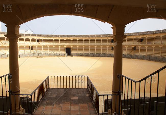 Ronda, Spain - April 4, 2010: Empty bullfighting arena