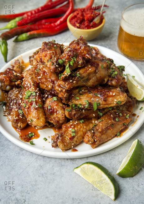 Sambal chicken wings