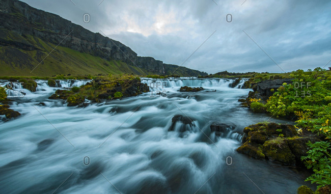 Rapids of the river Fossar, Iceland
