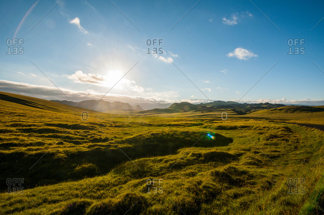 The Icelandic highlands close to Takgil, Iceland