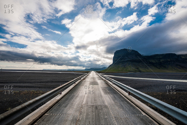 Bridge over Skeidarasandur, south Iceland