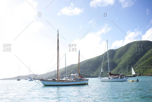 Sailboat in Caribbean