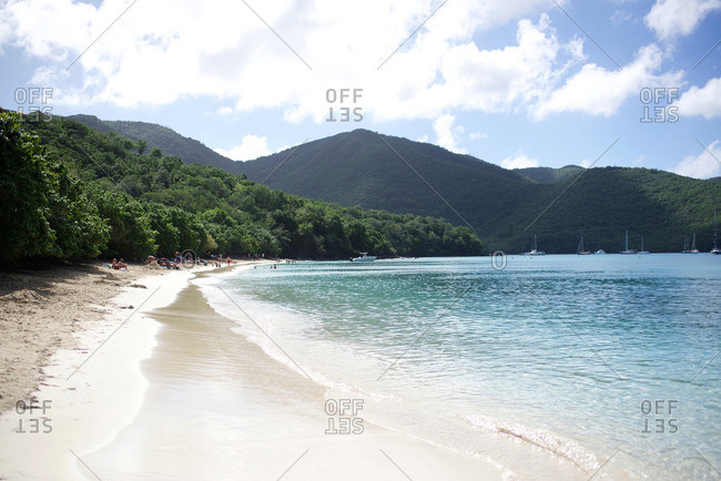 Shore of a Caribbean island