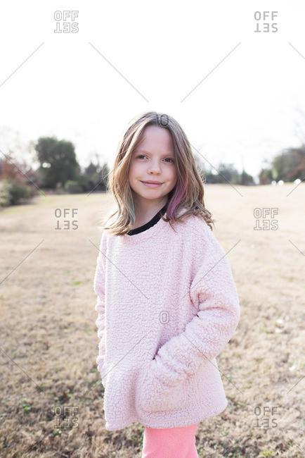 Girl posing for portrait