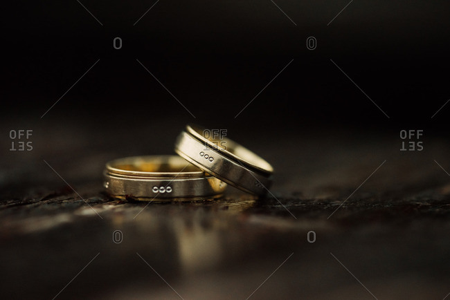 Two wedding bands with engravings