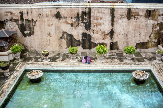 Taman sari water palace of Yogyakarta on java island, Indonesia