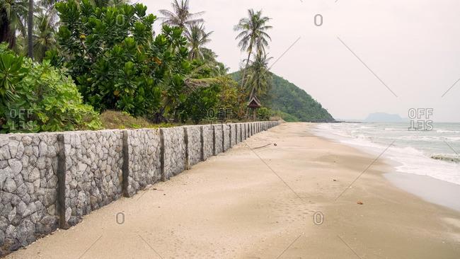 Secluded beach near Hua Hin, Thailand