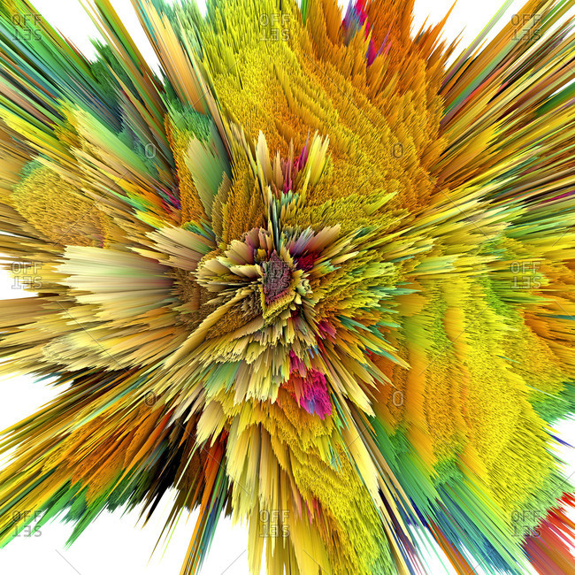 Abstract burst, artwork - Offset Collection