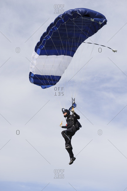 Skydiver, low angle view