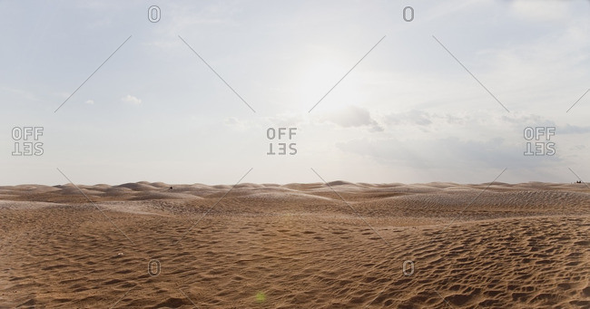 View of desert with sand dunes