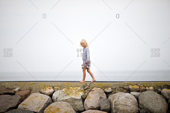 Girl walking on water break