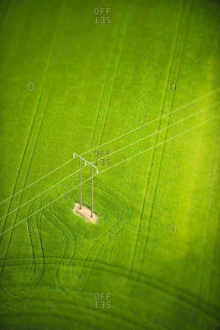 Power line over field