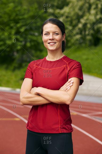 Portrait of female athlete