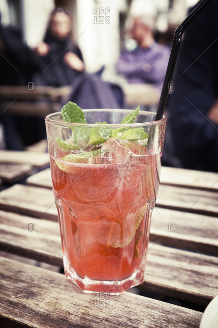 Cold drink in glass