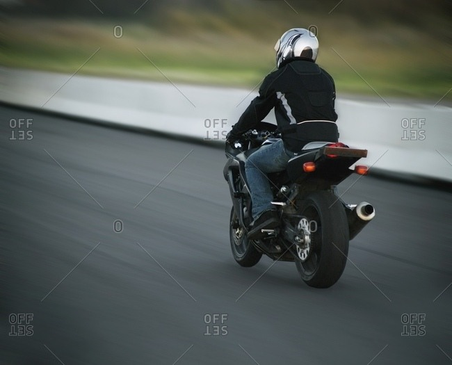 Person Riding A Motorcycle