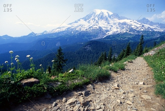 Pinnacle Peak Trail, Mount Rainier National Park, Washington, Usa