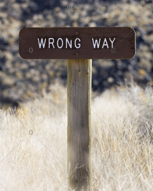 Wrong Way Sign - Offset Collection