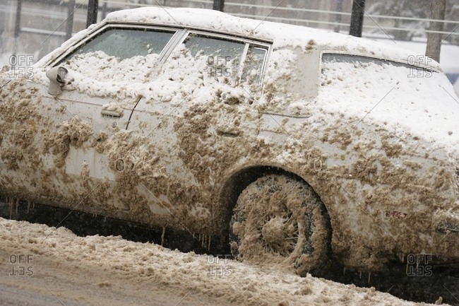 Mud Splashed Car
