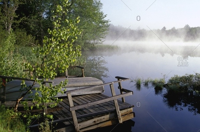 Lake Covered With Morning Mist
