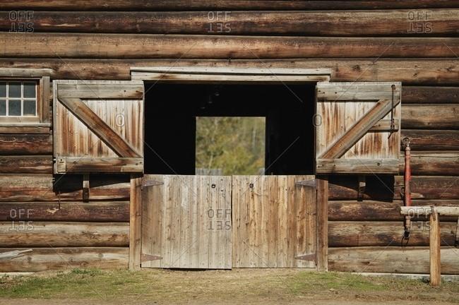 Barn With Open Doors Stock Photo Offset