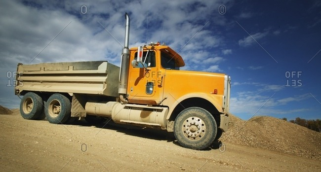 Side View Of Dump Truck