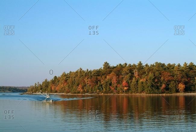 A Float Plane On A Lake