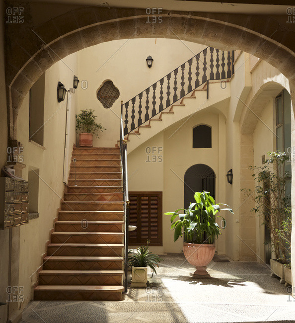 Courtyard of traditional mansion in the Old Town of Palma de Majorca